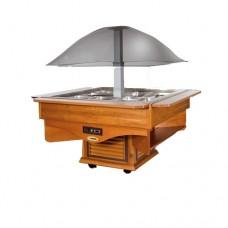 Салат-бар охлаждаемый SCAIOLA Cupola с подсветкой