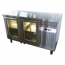 Стол охлаждаемый со стеклянными дверьми СОБ2С-136/2Д/S, 1340*600*850