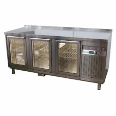 Стол охлаждаемый со стеклянными дверьми СОБ3С-186/3Д/S, 1830*600*850