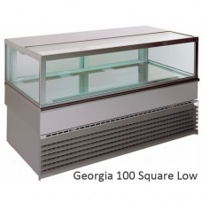 Витрина холодильная UNIS Georgia  1000, Square Low, inox