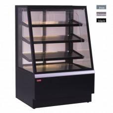 Витрина кондитерская охлаждаемая UNIS Opera Open 900 Self-service Black, straight front glass
