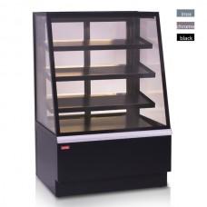 Витрина кондитерская охлаждаемая UNIS Opera Standart 900 Black, straight front glass