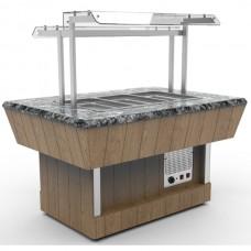 Прилавок холодильный Шведский стол Челябторгтехника RC42S, каменная столешница на 3 GN1/1
