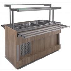 Прилавок холодильный Шведский стол Челябторгтехника RC43A, столешница нерж. на 4 GN1/1