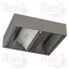 Зонт приточно-вытяжной центральный ВЦ 1600*1800*350 с подсветкой