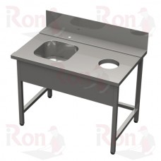 Стол  СО М1L 1600*750*870 входной с левым крепл.