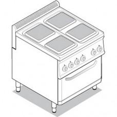 Плита с духовым шкафом TECNOINOX PFS70E7