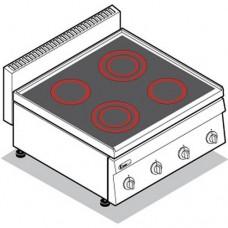 Плита со стеклокерамической поверхностью TECNOINOX PCC70E/0