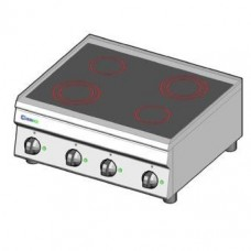 Плита со стеклокерамической поверхностью TECNOINOX PCC70E/6/0