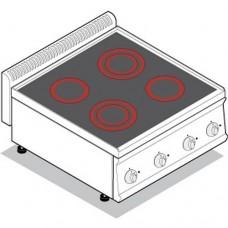 Плита со стеклокерамической поверхностью TECNOINOX PCC70E7